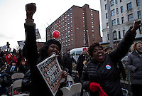 Women screams as they take part during a rally against gun violence in Harlem March 21, 2013 in New York City . VIEWpress/ Kena Betancur.