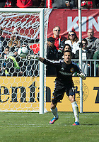 30 March 2013: Los Angeles Galaxy goalkeeper Carlo Cudicini #1in action during an MLS game between the LA Galaxy and Toronto FC at BMO Field in Toronto, Ontario Canada..The game ended in a 2-2 draw..