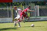 Sandhausen 10.05.2008, Matthias Schwarz (FC Bayern M&uuml;nchen II)  und Benjamin Barg (SV Sandhausen) in der Regionalliga beim Spiel SV Sandhausen - FC Bayern M&uuml;nchen II<br /> <br /> Foto &copy; Rhein-Neckar-Picture *** Foto ist honorarpflichtig! *** Auf Anfrage in h&ouml;herer Qualit&auml;t/Aufl&ouml;sung. Belegexemplar erbeten.