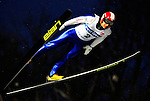 Yukio Sakano of Japan  soars through the air during the FIS World Cup Ski Jumping in Sapporo, northern Japan in February, 2008.