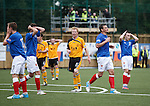 Rangers dejection after Lee McCulloch's last gasp shot fails to find the net