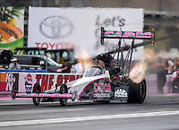 Oct 28, 2016; Las Vegas, NV, USA; NHRA top fuel driver Steve Torrence during qualifying for the Toyota Nationals at The Strip at Las Vegas Motor Speedway. Mandatory Credit: Mark J. Rebilas-USA TODAY Sports