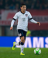 VIENNA, Austria - November 19, 2013: Alejandro Bedoya during a 0-1 loss to host Austria during the international friendly match between Austria and the USA at Ernst-Happel-Stadium.