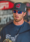 14 March 2016: Atlanta Braves infielder Dansby Swanson, ranked the Number One Top Prospect in the Braves organization for 2016 by both MLB and Baseball America, stands ready in the dugout prior to a Spring Training pre-season game against the Tampa Bay Rays at Champion Stadium in the ESPN Wide World of Sports Complex in Kissimmee, Florida. The Braves shut out the Rays 5-0 in Grapefruit League play. Mandatory Credit: Ed Wolfstein Photo *** RAW (NEF) Image File Available ***