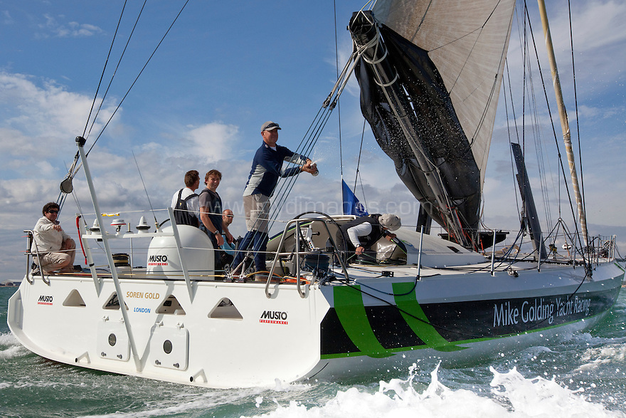 3rd August 2010 . Cowes. Isle of Wight. Artemis Challenge..Pictures of the Mike Golding Yacht Racing Team, Skipper Mike Golding (GBR)..Mandatory credit: Lloyd Images
