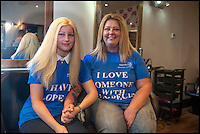 BNPS.co.uk (01202 558833)<br /> Pic: TomWren/BNPS<br /> <br /> Jo and Lauren at the salon before the chop. Lauren's previous wig's were unnatural and ill fitting. <br /> <br /> Hair today, her's tomorrow!<br /> <br /> A doting mum has 'baldly' gone where no mother has gone before - shaving her head to make her alopecia-suffering daughter a special wig.<br /> <br /> Jo Green, 41, grew her hair for three years so she would have enough to make daughter Lauren, 17, a hair-raising gift to say thank you for everything the teenager has done to help her.<br /> <br /> Lauren was just eight years old when her hair started falling out and she went from having a full head of long, blonde locks to being completely bald in just three days.<br /> <br /> Despite this Jo says Lauren has never complained and has always tried to help others.