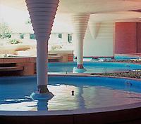 F.L. Wright: Pools--Johnson's Wax.   Photo '77.