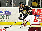 12 November 2010: University of Vermont Catamount forward H.T. Lenz, a Freshman from Vienna, VA, in action against the Boston College Eagles at Gutterson Fieldhouse in Burlington, Vermont. The Eagles edged out the Cats 3-2 in the first game of their weekend series. Mandatory Credit: Ed Wolfstein Photo