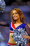 7 December 2008: A member of the Buffalo Jills cheerleaders entertains the crowd during a game against the Miami Dolphins in the first regular season NFL game ever to be played in Canada. The Dolphins defeated the Bills 16-3 at the Rogers Centre in Toronto, Ontario. ..Mandatory Photo Credit: Ed Wolfstein Photo