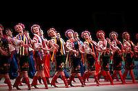 "Ethnic folk dancers from Ukraine perform gala at 2008 World Cup Kiev, ""Deriugina Cup"" in Kiev, Ukraine on March 23, 2008."