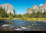 Yosemite Valley in Spring, El Capitan, Cathedral Rocks, Bridalveil Fall and the Merced River, Gates of the Valley, Valley View, Yosemite National Park
