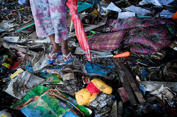 Magali Corouge / Documentography<br />Nov-Dec 2013, San Joaquin, Leyte, Philippines.<br /><br />The floor of the Elementary School of San Joaquin is covered of mud, stones, books, ....