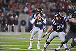Ole Miss quarterback Nathan Stanley (12) passes vs. Louisiana-Lafayette in Oxford, Miss. on Saturday, November 6, 2010. Ole Miss won 43-21.