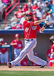 7 March 2016: Washington Nationals outfielder Jayson Werth in action during a Spring Training pre-season game against the Miami Marlins at Space Coast Stadium in Viera, Florida. The Nationals defeated the Marlins 7-4 in Grapefruit League play. Mandatory Credit: Ed Wolfstein Photo *** RAW (NEF) Image File Available ***