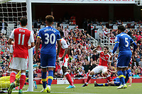 Hector Bellerín of Arsenal scores the opening goal during Arsenal vs Everton, Premier League Football at the Emirates Stadium on 21st May 2017