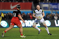 Matt Garvey of Bath Rugby in possession. Aviva Premiership match, between Saracens and Bath Rugby on January 30, 2016 at Allianz Park in London, England. Photo by: Patrick Khachfe / Onside Images