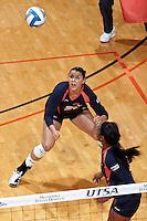 SAN ANTONIO, TX - SEPTEMBER 1, 2012: The Belmont University Bruins versus the University of Texas at San Antonio Roadrunners Women's Volleyball at the UTSA Convocation Center. (Photo by Jeff Huehn)