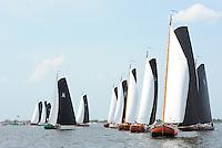 ZEILEN: SNEEK: Snitser Mar, 01-08-2014, SKS skûtsjesilen, finalewedstrijd, valse start voor De Sneker Pan, ©foto Martin de Jong