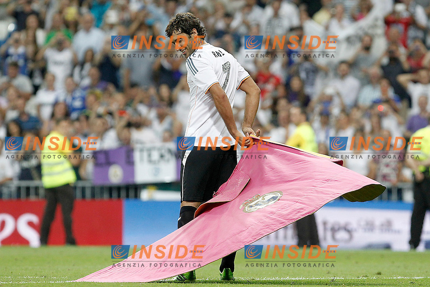 Al Sadd's Raul Gonzalez Blanco during Santiago Bernabeu Trophy.Tribute Match to Raul Gonzalez Blanco.August 22,2013. (ALTERPHOTOS/Acero) <br /> Football Calcio 2013/2014<br /> La Liga Spagna<br /> Foto Alterphotos / Insidefoto <br /> ITALY ONLY