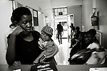 Inside the Doctors without Border clinic, near Central Church in Johannesburg.<br /> April 2009