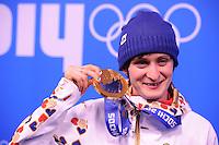 OLYMPICS: SOCHI: Medal Plaza, 20-02-2014, Ladies' 5000m, Martina Sábliková (CZE), ©photo Martin de Jong