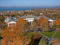 Waterman, UVM Green, Burlington and Lake Champlain, Fall UVM Campus