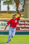 11 March 2013: Washington Nationals outfielder Micah Owings in action during a Spring Training game against the Atlanta Braves at Space Coast Stadium in Viera, Florida. The Braves defeated the Nationals 7-2 in Grapefruit League play. Mandatory Credit: Ed Wolfstein Photo *** RAW (NEF) Image File Available ***