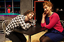 "London, UK. 11/11/2011. ""EX"", a new musical, opens at the Soho theatre. A Two's Company and Soho Theatre production, written by Rob Young, music by Ross Lorraine and directed by Tricia Thorns. Picture shows Gerard Carey (as Jack) and Amy Booth-Steel (as Ruby). Photo credit: Jane Hobson"