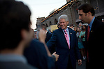 December 8, 2007. Charleston, SC.. Former president Bill Clinton campaigned in South Carolina for his wife Hillary in her bid for the presidency of the US..  Clinton greeted supporters at an open air market in downtown Charleston.