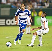 CARSON, CA – August 6, 2011: FC Dallas forward Maicon Santos (9) during the match between LA Galaxy and FC Dallas at the Home Depot Center in Carson, California. Final score LA Galaxy 3, FC Dallas 1.