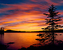 Waldo Lake sunset; Willamette National Forest, Cascade Mountains, Oregon.