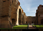 Baths of Caracalla Atrium and Frigidarium Great Hall Aventine Hill Rome