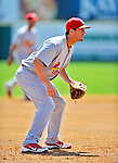 12 March 2012: St. Louis Cardinals infielder David Freese in action during a Spring Training game against the Washington Nationals at Space Coast Stadium in Viera, Florida. The Nationals defeated the Cardinals 8-4 in Grapefruit League play. Mandatory Credit: Ed Wolfstein Photo