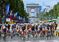 Picture by Simon Wilkinson/SWpix.com - 24/07/2016 - Cycling La Course by Le Tour   - PARIS Champs Elysees - Women's Race