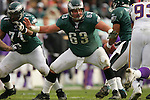 16 Jan 2005: Hank Fraley of the Philadelphia Eagles during the Philadelphia Eagles 27-14 victory over the Minnesota Vikings at Lincoln Financial Field in Philadelphia, PA. <br />