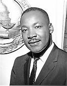 "Washington, DC - (FILE) -- Portrait of Reverend Doctor Martin Luther King, Jr. at the National Press Club in Washington, D.C. on July 19, 1962..Credit: Benjamin E. ""Gene"" Forte - CNP"