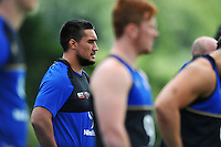 Leroy Houston of Bath Rugby looks on. Bath Rugby training session on July 21, 2015 at Farleigh House in Bath, England. Photo by: Patrick Khachfe / Onside Images