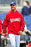 13 April 2009: Washington Nationals' Manager Manny Acta takes the field during batting practice prior to facing the Philadelphia Phillies at the Nats' Home Opener at Nationals Park in Washington, DC. The Nats fell short in their 9th inning rally, losing 9-8, and marking their 7th consecutive loss of the season. Mandatory Credit: Ed Wolfstein Photo