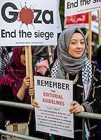 15.07.2014 - Pro-Palestine Demonstration Outside BBC HQ