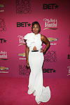 """Actress Tatyana Ali Wearing a  Michael Costello Gown Attends """"BLACK GIRLS ROCK!"""" Honoring legendary singer Patti Labelle (Living Legend Award), hip-hop pioneer Queen Latifah (Rock Star Award), esteemed writer and producer Mara Brock Akil (Shot Caller Award), tennis icon and entrepreneur Venus Williams (Star Power Award celebrated by Chevy), community organizer Ameena Matthews (Community Activist Award), ground-breaking ballet dancer Misty Copeland (Young, Gifted & Black Award), and children's rights activist Marian Wright Edelman (Social Humanitarian Award) Hosted By Tracee Ellis Ross and Regina King Held at NJ PAC, NJ"""