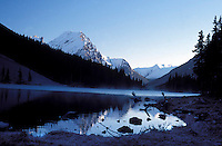 CANADA, ALBERTA, KANANASKIS, MAY 2002. Elbow Lake is one of the most beautiful lakes surrounded by snowy peaks.  The Kananaskis Country provincial park is home to Canada's most beautiful nature and wildlife. It has also escaped the mass tourism as in Banff National Park. Photo by Frits Meyst/Adventure4ever.com