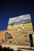 Mural on a buildin showing a bright future for Nicaragua, Leon, Nicaragua.