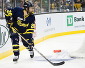 Ryan Flanigan (Merrimack - 20) - The Merrimack College Warriors defeated the University of New Hampshire Wildcats 4-1 in their Hockey East Semi-Final on Friday, March 18, 2011, at TD Garden in Boston, Massachusetts.