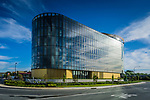 The cool design of Vibe Hotel in Canberra (situated adjacent to the terminal at Canberra Airport) with the dramatic interior with a full height circular atrium. Hotel was designed by Bates Smart,