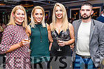 Helen Hannifin, Leonie Flaherty, Sarah Burke and Billy Burke pictured at the John Mitchel's Strictly Come Dancing at the Ballygarry House Hotel on Sunday night.