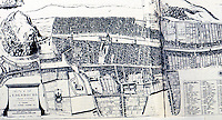 Edinburgh: The Old City, 1647, Plan. Gutkind VI, 306-307. Note: gardens within walls.