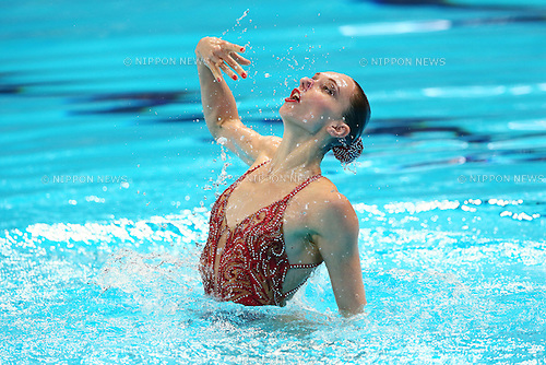 Natalia Ishchenko (RUS), JULY 29, 2015 - Synchronised Swimming : 16th FINA World Championships Kazan 2015 Solo Free Routine Final at Kazan Arena in Kazan, Russia. (Photo by Yohei Osada/AFLO SPORT)