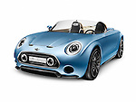 2015 MINI Superleggera Vision compact roadster British-Italian concept car isolated on white background with clipping path