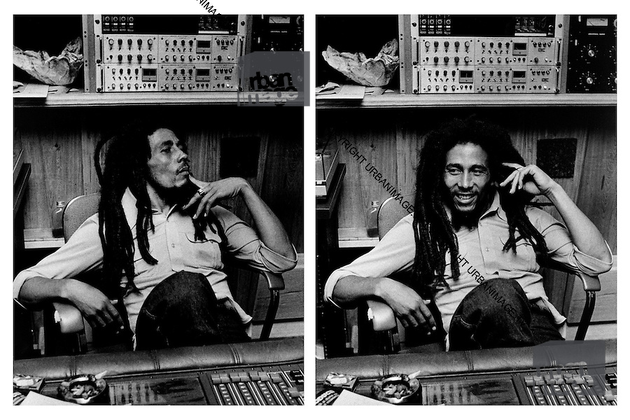 Bob Marley at Tuff Gong Studios - Kingston Jamaica