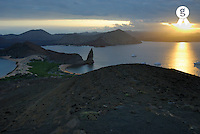 Ecuador, Galapagos Islands, Bartolome Island at dusk (Licence this image exclusively with Getty: http://www.gettyimages.com/detail/sb10061764a-001 )